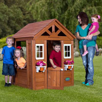 Timberlake All Cedar Wood Playhouse
