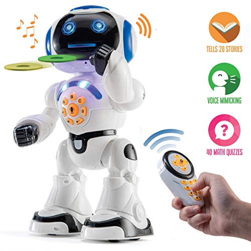 Top Race Remote Control Robot Toy Walking Talking Dancing Toy Robots for Kids