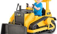 kids ride on bulldozer