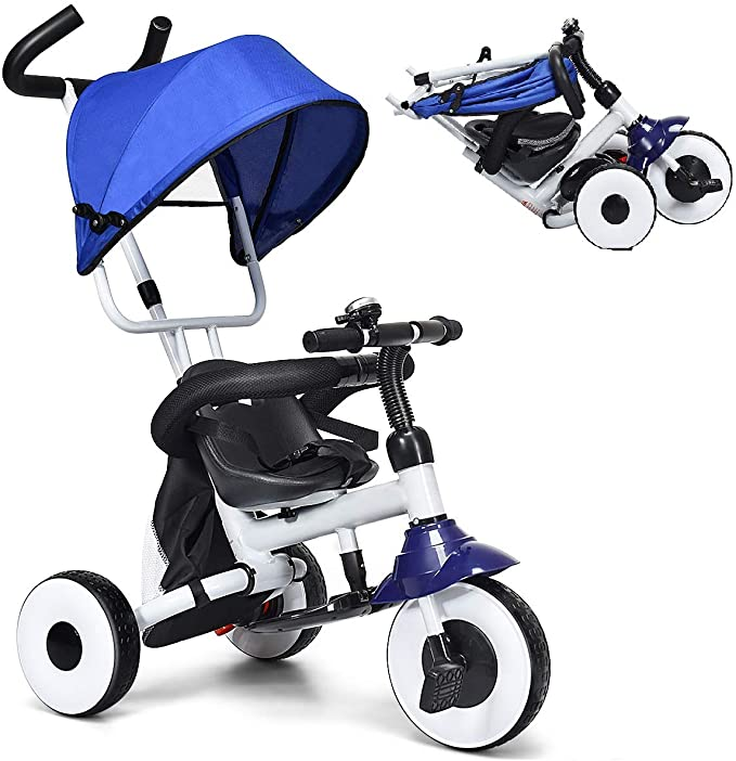 Baby Joy 4-in-1 Kids Tricycle