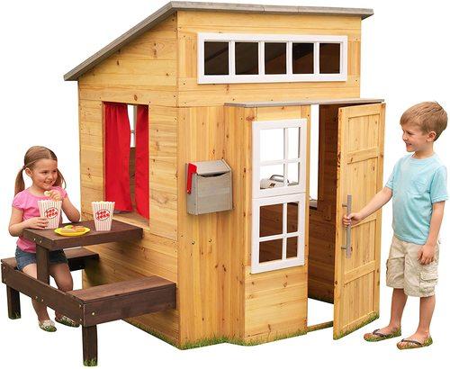 KidKraft Modern Outdoor Wooden Kids Playhouse