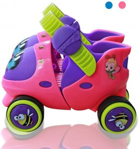 Mpoutik Kid's Children's Adjustable Speed Quad Roller Skates