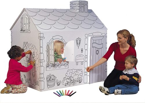 My Very Own House cardboard Coloring Playhouses