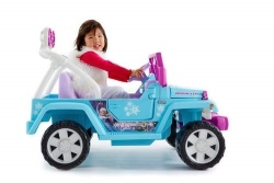 Power Wheels Disney Frozen Jeep Wrangler Electric Toy Car