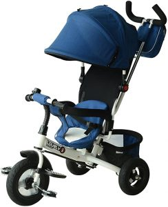 Qaba 2-in-1 Convertible Baby Tricycle Strollers