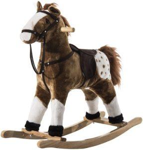 Qaba Kids Plush Toy Rocking Horse
