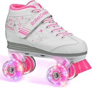 Roller Derby Girls Sparkle Lighted Wheel Roller Skate
