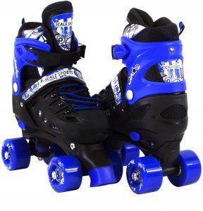 Scale Sports Adjustable Quad Roller Skates