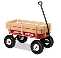 The Radio Flyer All Terrain Steel and Wood Kids Wagon