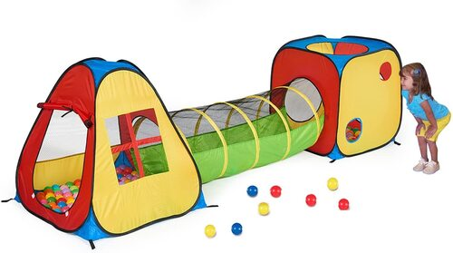 UTEX3 in 1 Pop Up Play Tent with Tunnel