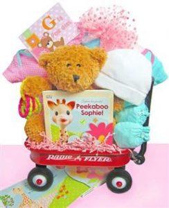 Baby Girl Born Gift Wagon