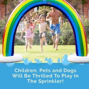 Splashin' Kids Outdoor Rainbow Sprinkler
