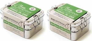 ECOlunchbox Three-in-One Stainless Food Lunch Box
