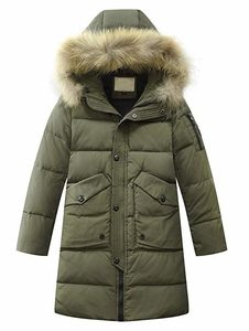 Mallimoda Big Boys' Hooded Bubble Jacket