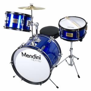 Mendini By Cecilio 16-Inch 3-Piece KidsJunior Drum Set