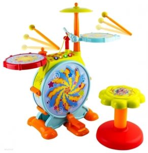 WolVol Electric Big Toy Drum Set for Kids