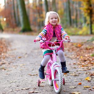 pretty girl on pink bike