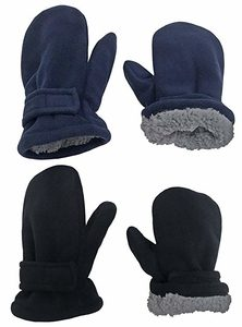 N'Ice Caps Little Kids and Baby Easy-On Sherpa Lined Fleece Mittens