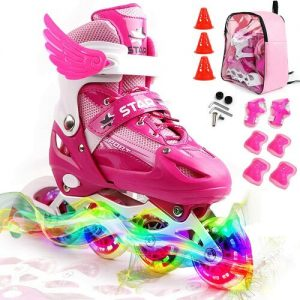 ZALALOVA Kids Adjustable Inline Skates
