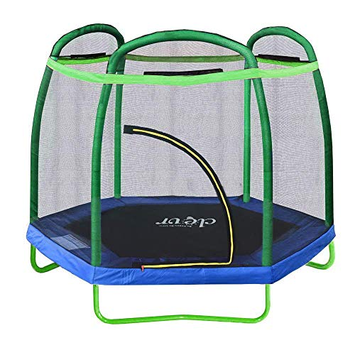 Clevr 7ft Kids Trampoline with Safety Enclosure Net