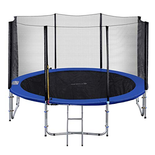 Exacme TUV Approved Trampoline with Safety Pad & Enclosure Net & Ladder