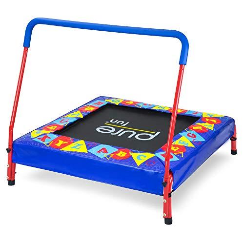Pure Fun 36-inch Preschool Jumper Kids Trampoline with Handrail