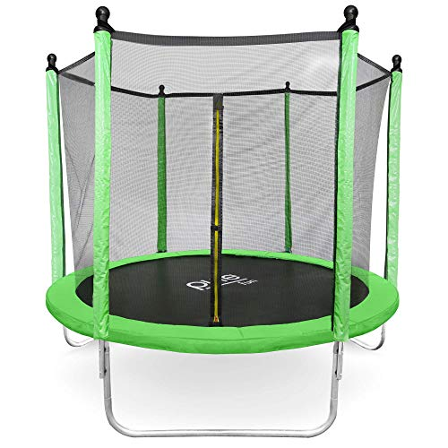 Pure Fun 8-Foot Trampoline with Enclosure Set