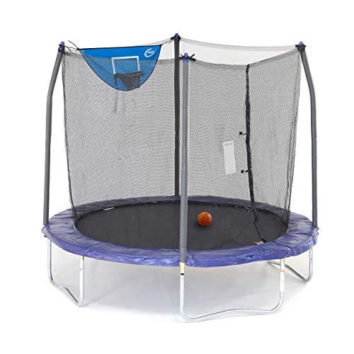 Skywalker Trampolines 8-Foot Jump N' Dunk Trampoline with Enclosure Net