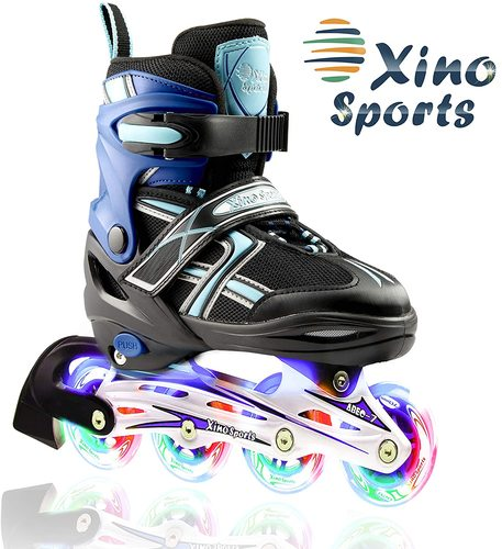 XinoSports Adjustable Kids Inline Skates - Top Pick