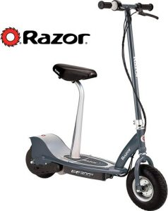 Razor E300S Seated Electric Scooter Matte Gray